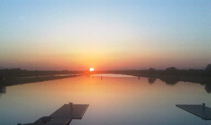 sunset over dorney lake