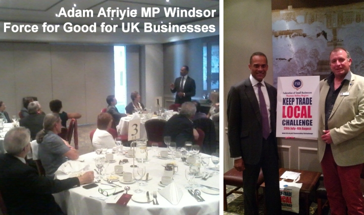 adam afriyie mp with windsor business owners