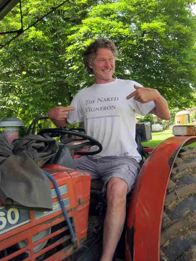 David on his tractor de vin