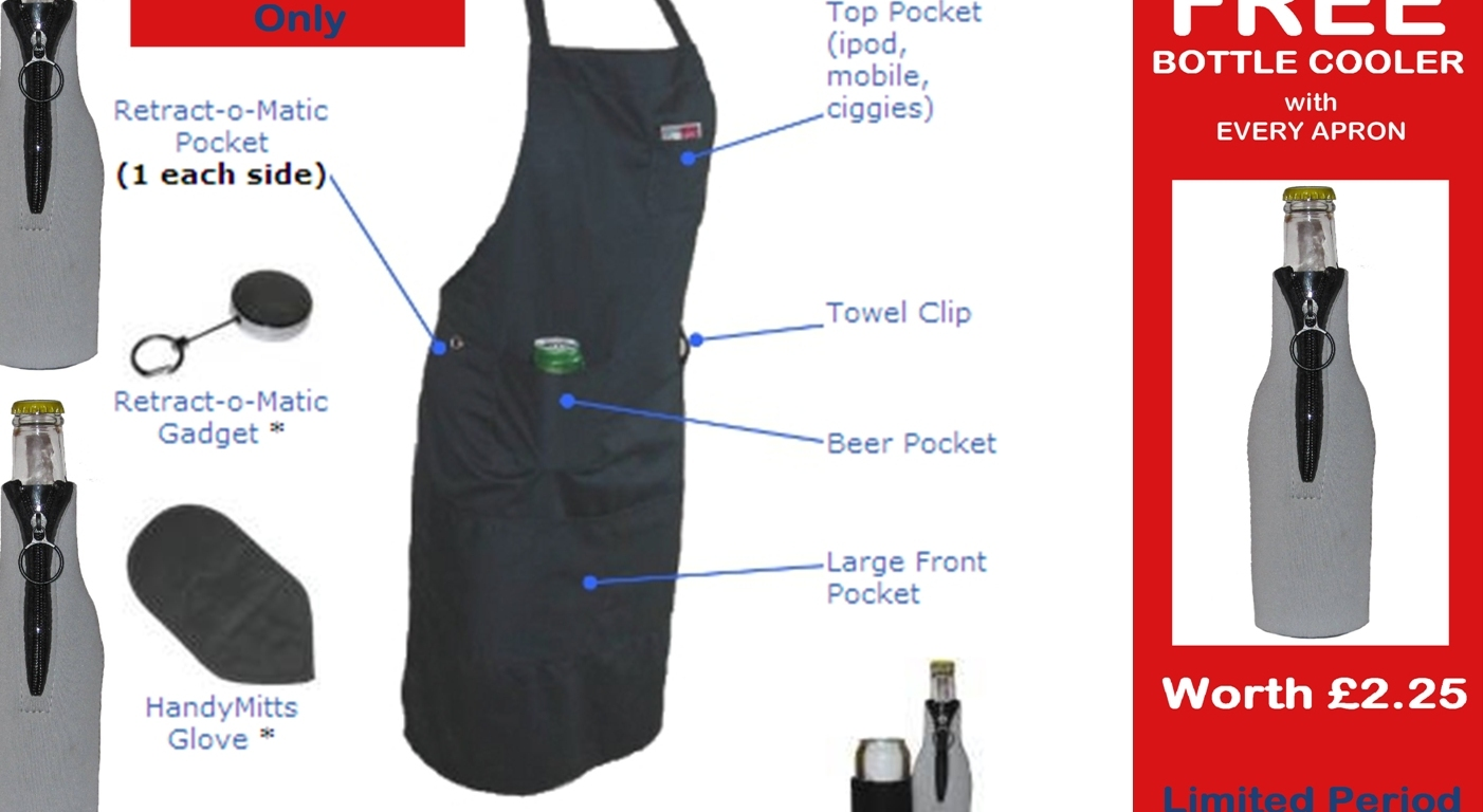 free bottle cooler with apron
