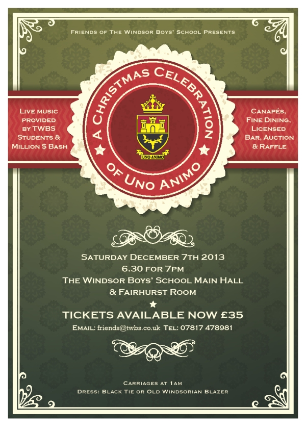 Uno Animo ball on Sat 7th Dec 2013