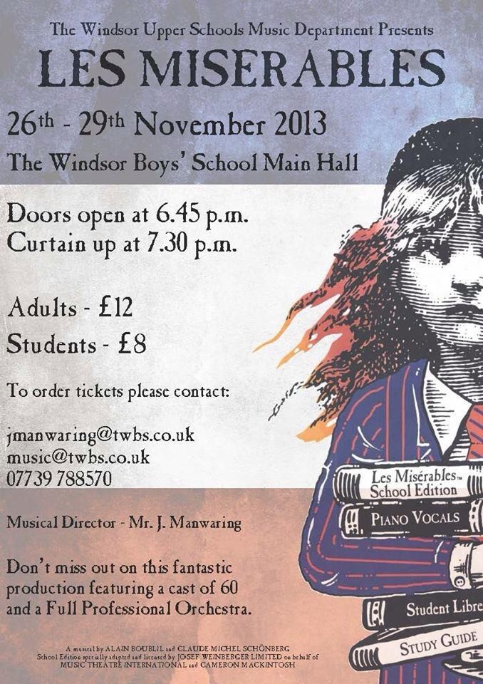 les miserables 26-29 november