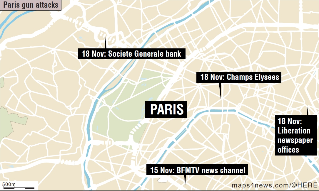 paris news story breaks map needed