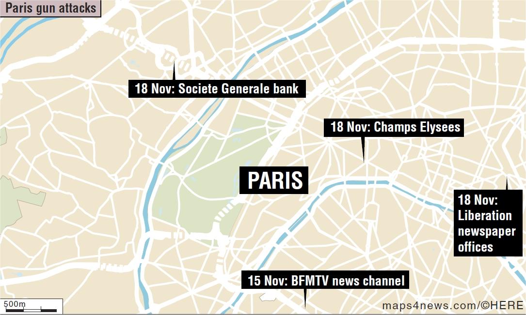 paris news story breaks map needed
