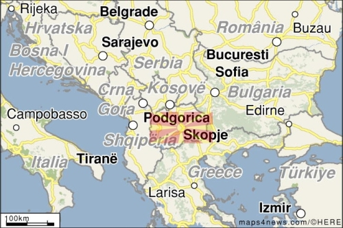 A map of Macedonia location