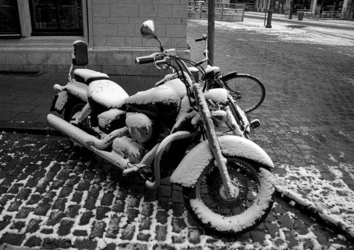 After snow in Antwerp