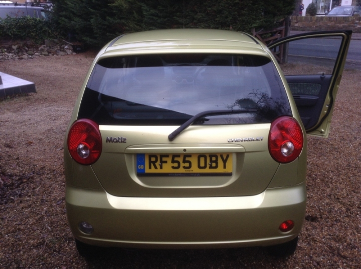 Chevrolet Matiz 5Dr Hatch 1 litre rear view