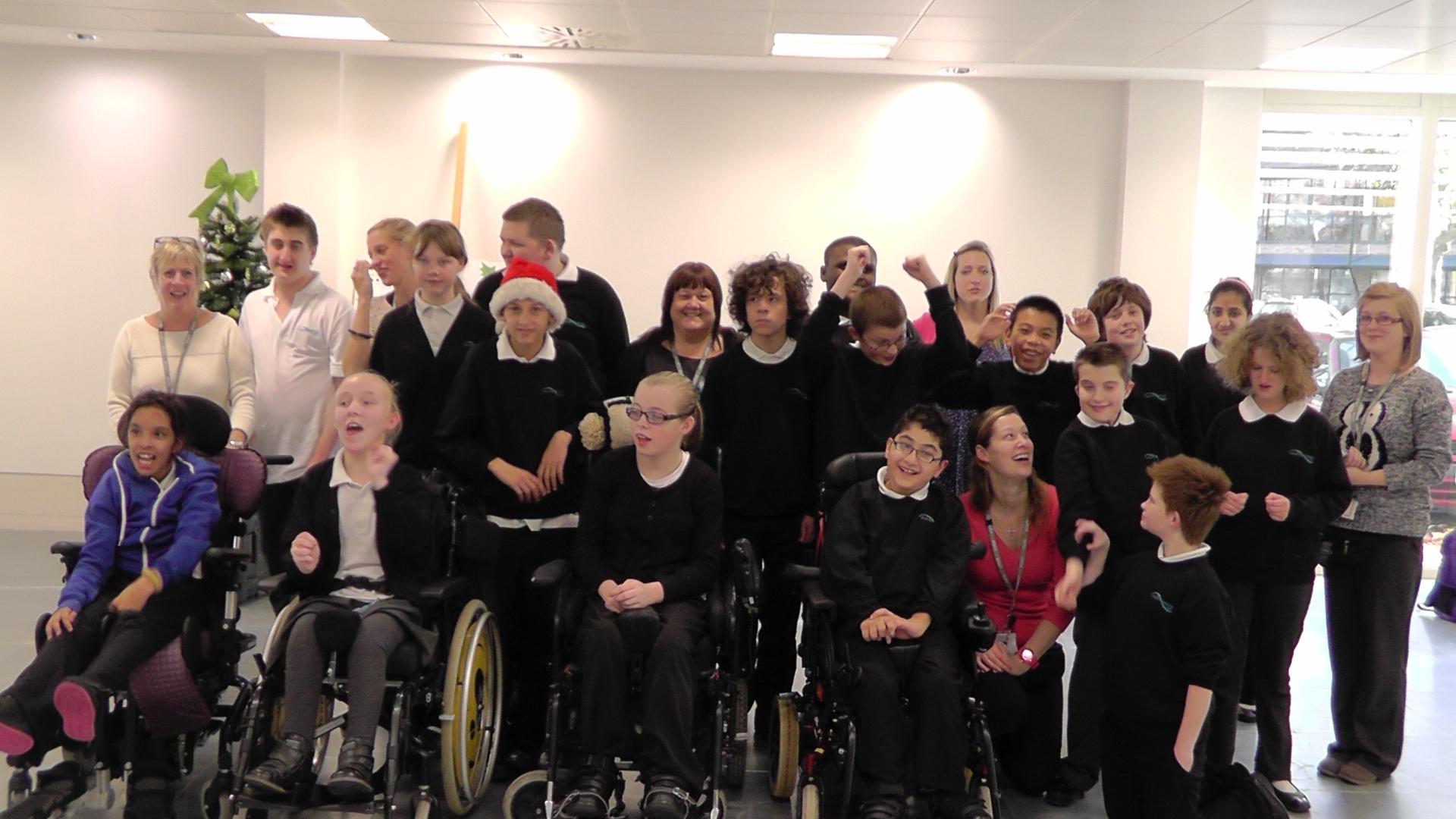 foundation park christmas fayre children singing
