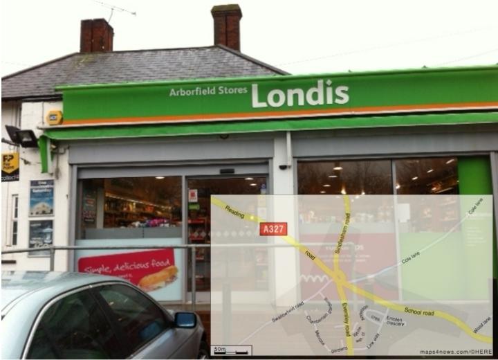 arborfield stores map