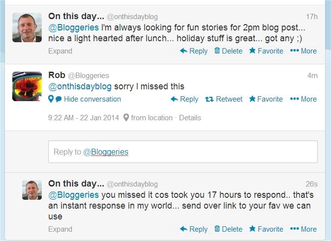 instant response on twitter