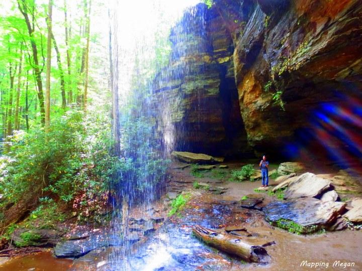 mapping megan water falls