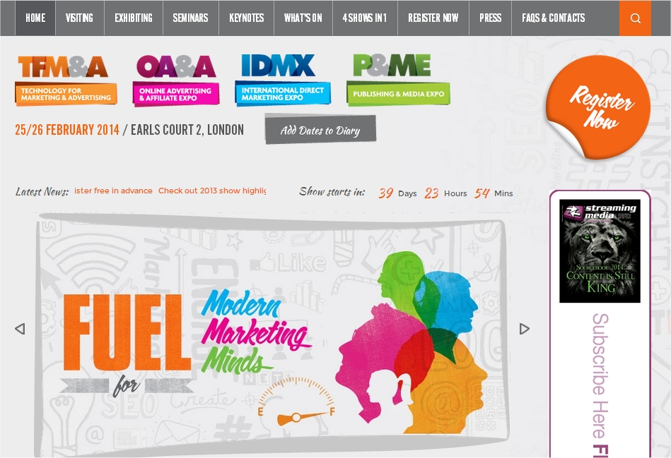 TFM Technology for Marketing and Advertising Show 2014
