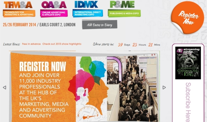 TFMA Technology for Marketing and Advertising Show 2014