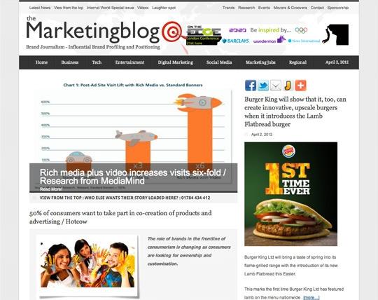 the marketing blog free entry