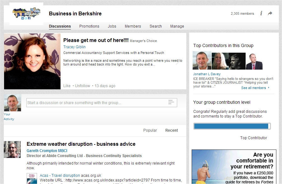 business in berkshire linkedin group home page