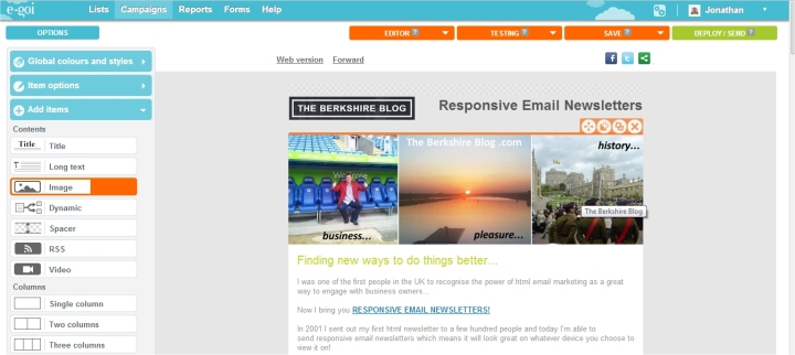 creating responsive email newsletters
