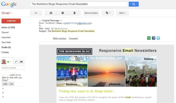 reply of responsive email newsletter