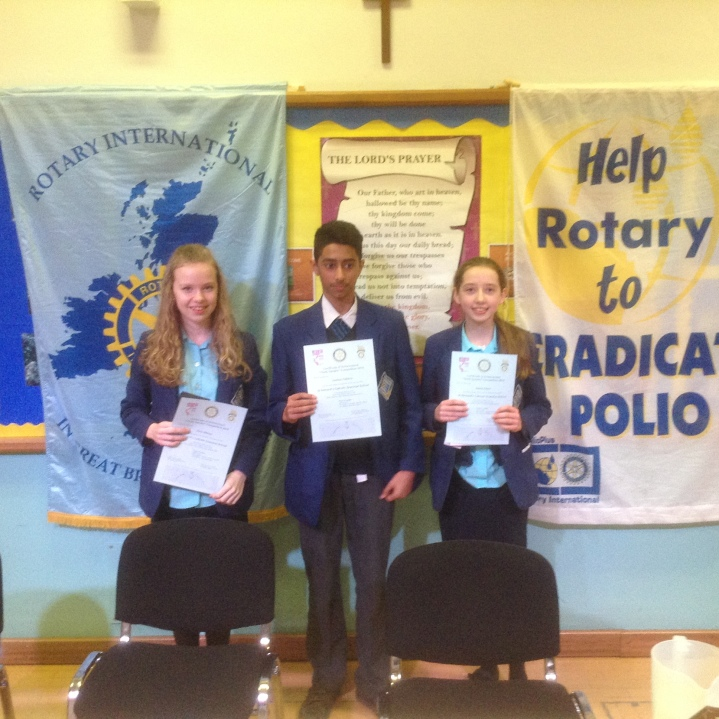 Rotary Youth Speaks Zone Final St Bernards