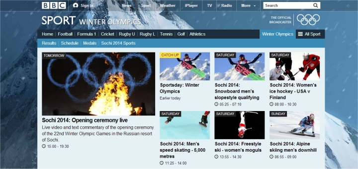 sochi 2014 from the bbc