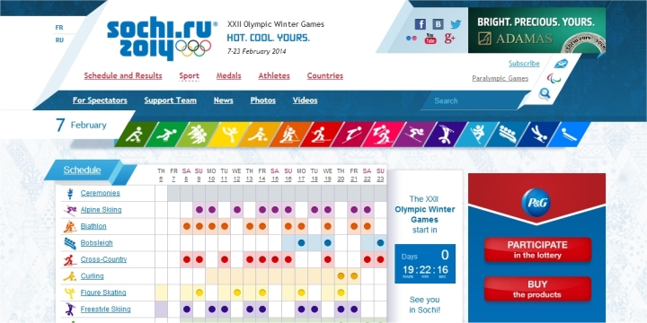 sochi 2014 official website