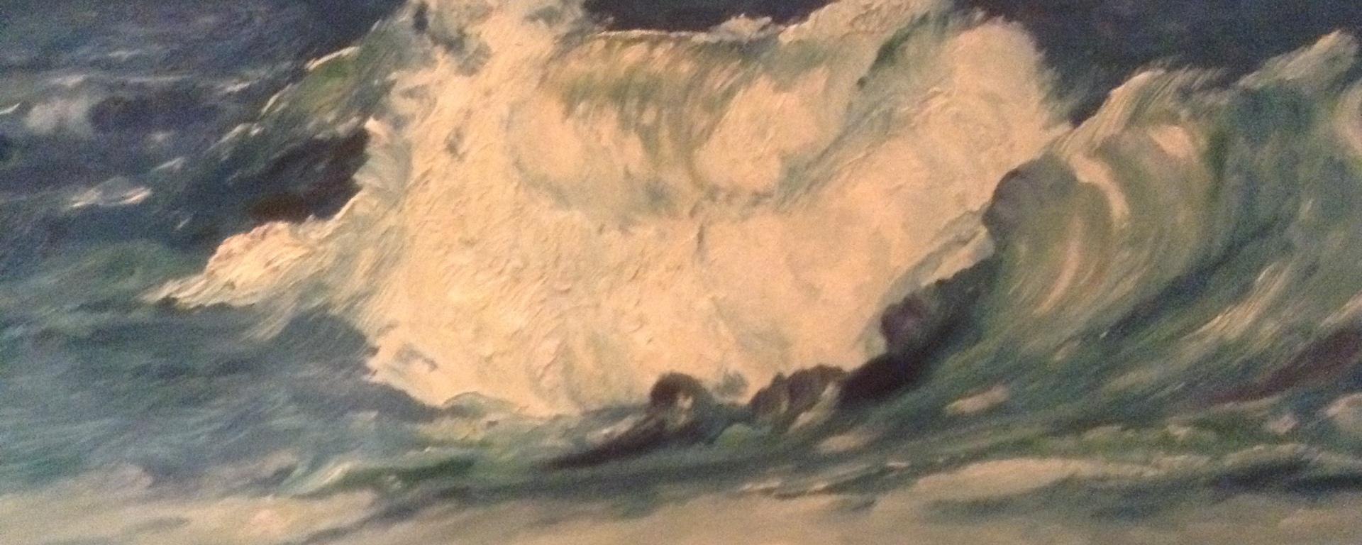 wave crashing on north norfolk coast 3 rocks