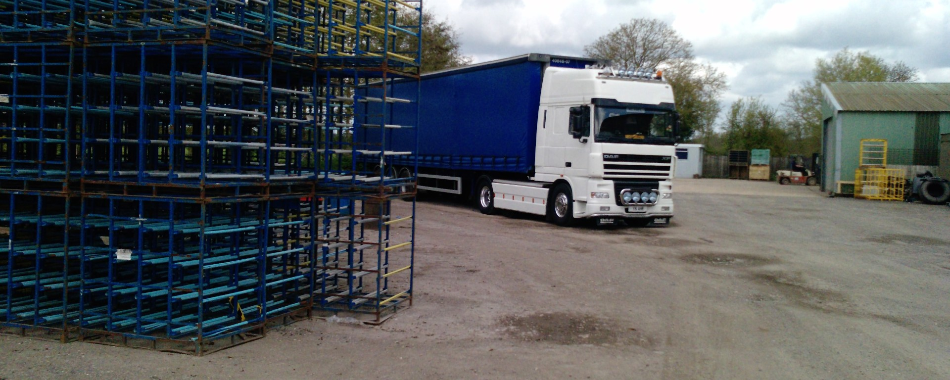 lorry on an industrial estate