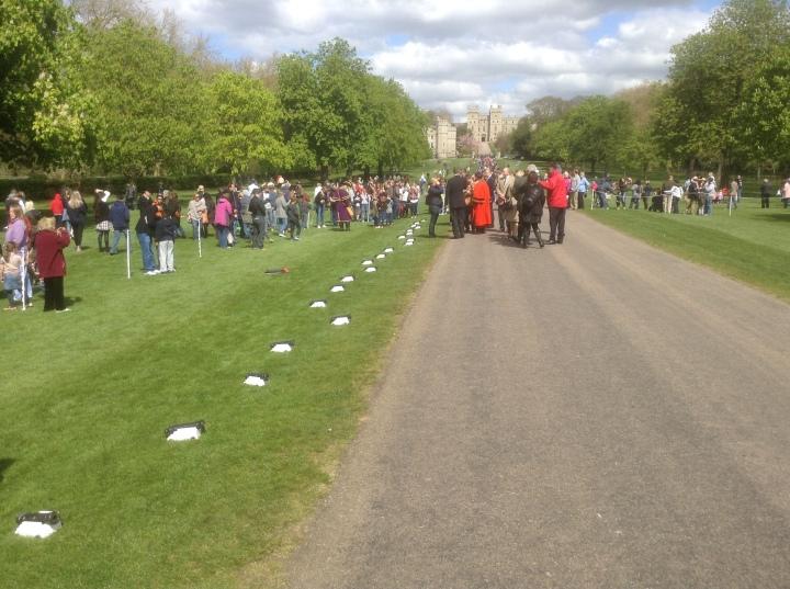 after Queen Elizabeth II birthday 21 gun salute Long Walk Windsor Castle