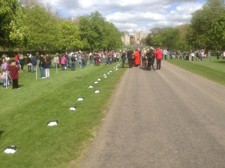 after Queen Elizabeth II birthday 21 gun salute Long Walk Windsor Castle