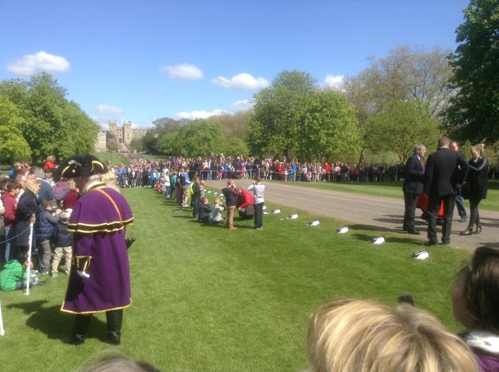 preparing Queen Elizabeth II birthday 21 gun salute Long Walk Windsor Castle