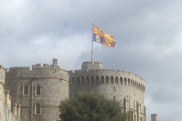 royal standard flying over windsor castle