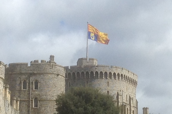 royal standard flying over windsor castle