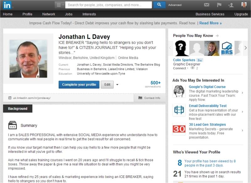 jonathan l davey linkedin profile april14
