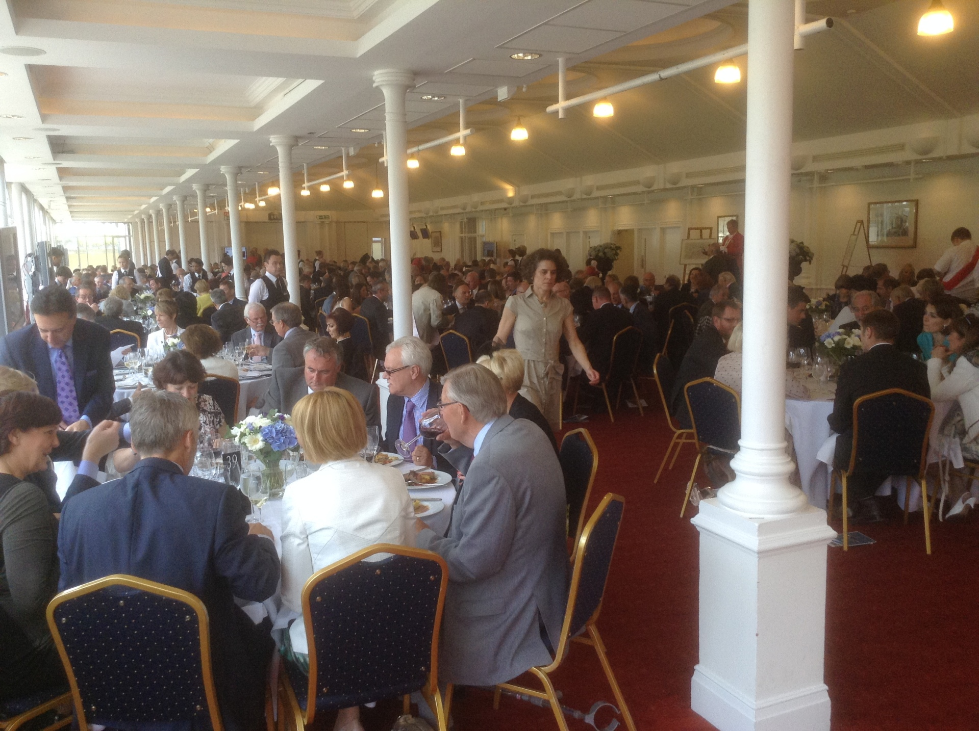 Prince Philip Trust Fund Race Day lunch in pavillion