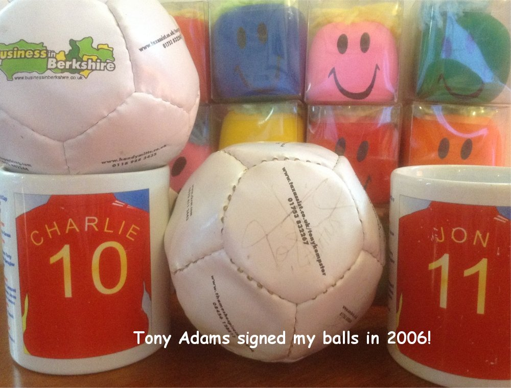 Tony Adams signed my balls in 2006