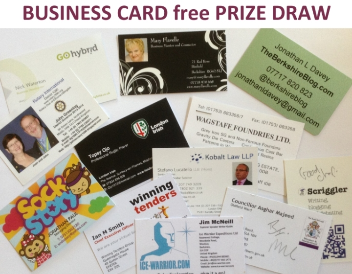 business card free prize draw