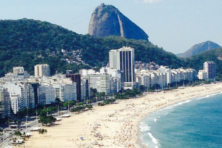 Copacabana Beach Rio de Janeiro from hotel