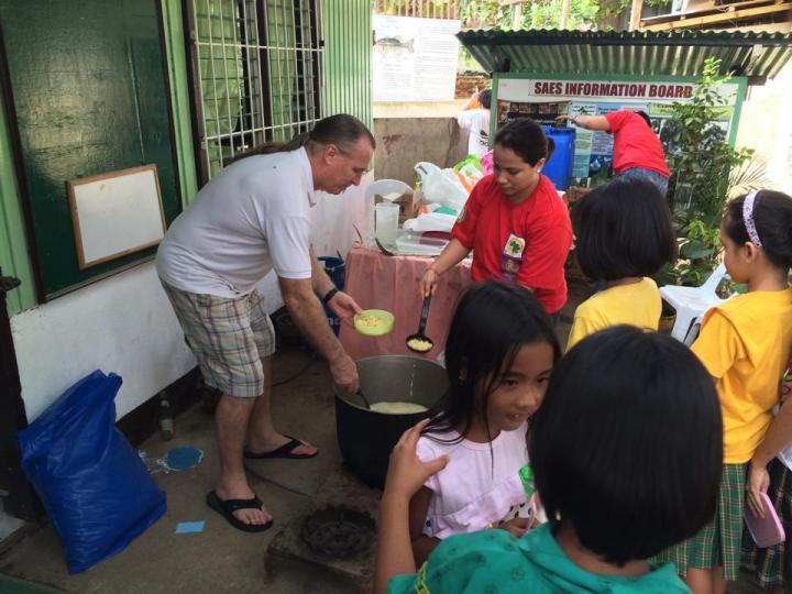 Feeding the kids in Liloan 1