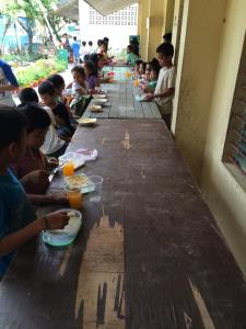 Feeding the kids in Liloan 3