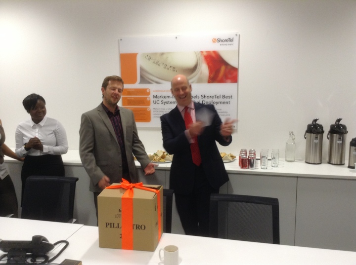 shoretel adrian hipkiss appreciation of a job well done phil drew