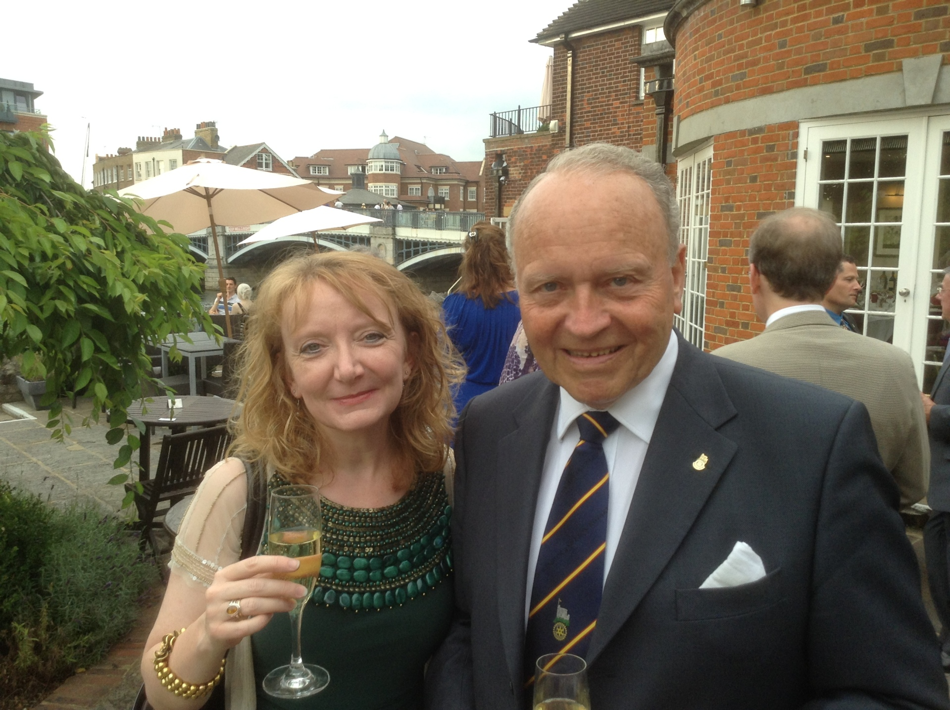 sir ian macfadyen farewell dinner with alison davey