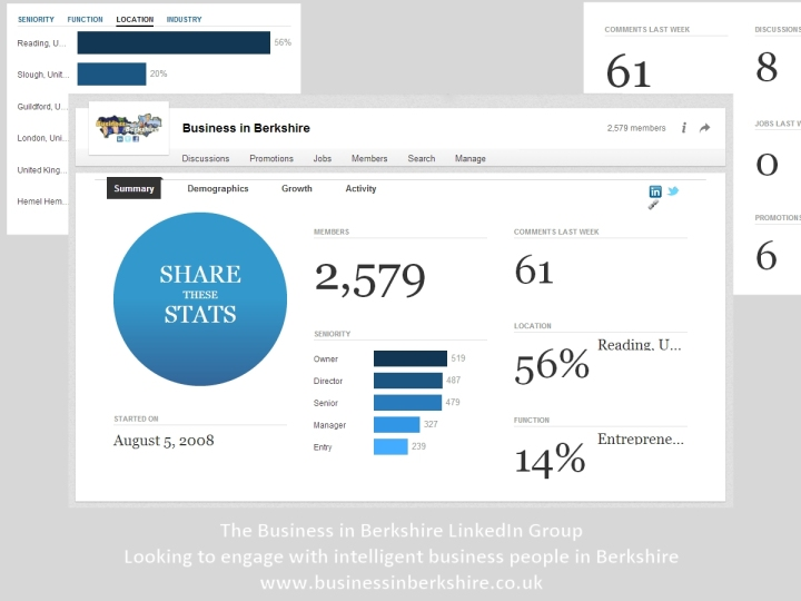 business in berkshire linkedin group statistics august 2014