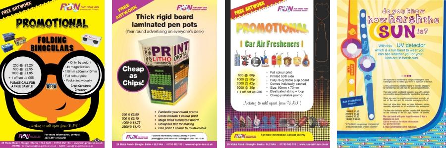 promotional gift ideas from run print run