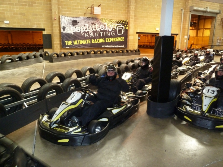 slow business networking gokarting in the pits