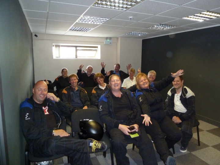 slow business networking gokarting race briefing
