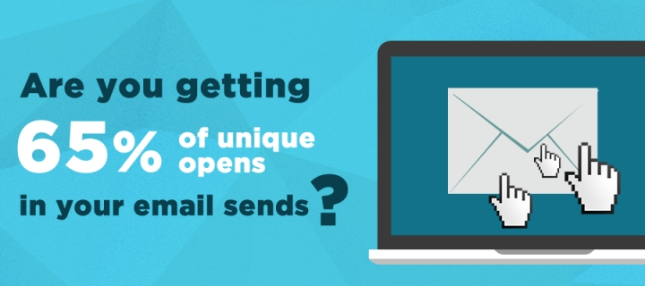 email newsletter 65 percent opens