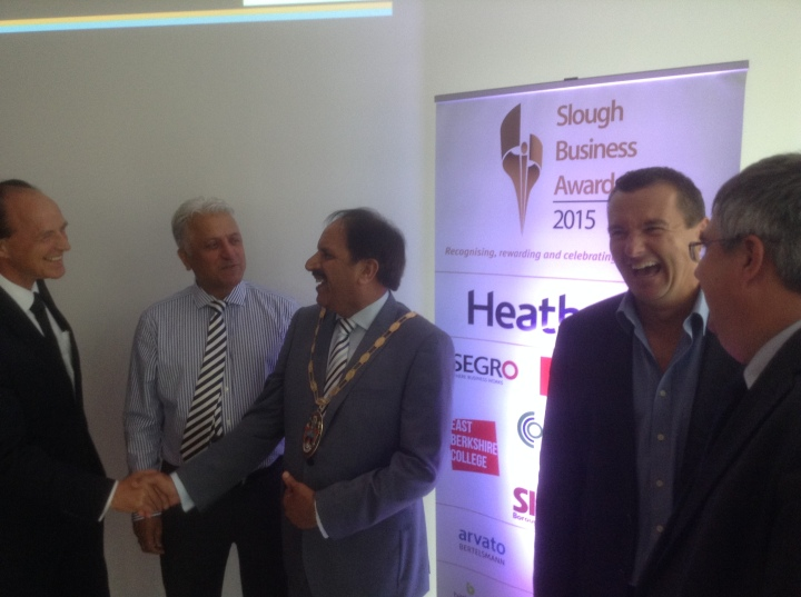 slough business awards sponsors smiling
