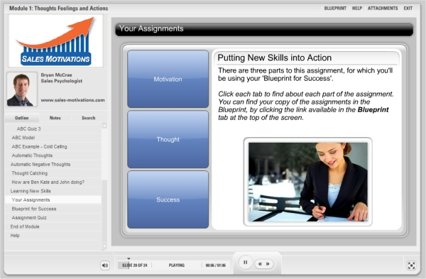 sales-motivations assignments along the way