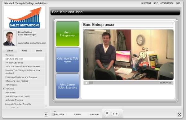 sales-motivations video footage of characters ben entrepreneur
