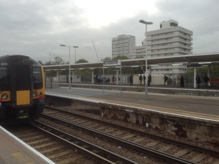 train at Clapham Junction