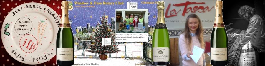 werotary advent calendar champagne banner